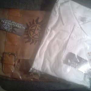 NWT TV's SUPERNATURAL Messenger Bag & Polo Shirt